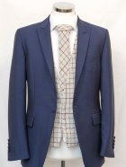 Tweed Waistcoat with Blue Suit Jacket