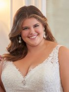 Stella York 6571 detail - Plus Size available
