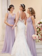 Stella York Wedding Dress - 6238 - back with bridesmaids