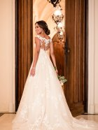 Stella York 6649 wedding dress back