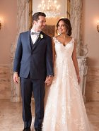 Stella York 6649 wedding dress couple photo