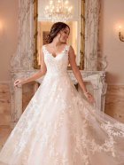 Stella York 6649 wedding dress front view