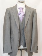 Wilvorst Silver Classic Suit with Silver Waistcoat