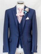 Wilvorst blue waistcoat with classic suit