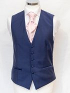 Wilvorst blue waistcoat with pink tie