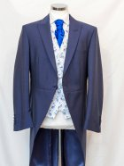 Cobolt Plume Waistcoat with Blue Tail Coat