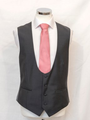 Charcoal Bow Fronted Waistcoat