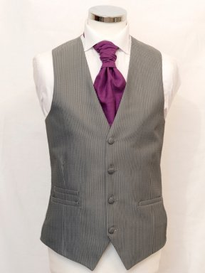 Waistcoat Grey with double right pocket