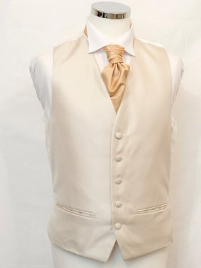 Gold Oxford Weave Waistcoat