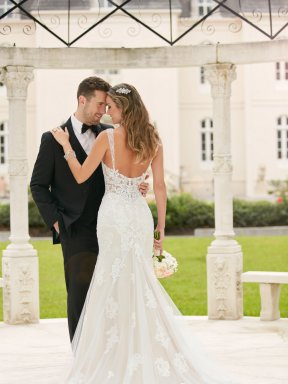 Stella York Wedding Dress 6371 - couple photo