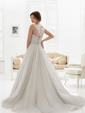 Phil Collins Bridal Dress PC6973 back