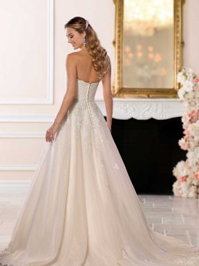 Stella York 6563 wedding dress back