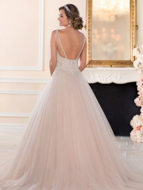 Stella York 6558 wedding dress back