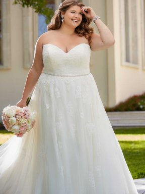 Stella York 6466 Plus Size Wedding Dress