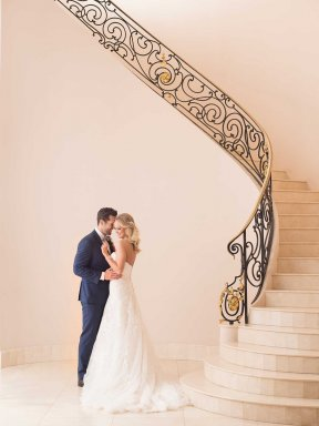 Stella York 6680 wedding dress - couple photo