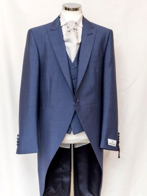 Wilvorst blue tail coat with blue waistcoat